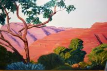 Marion Joy Langford, 'Kings Canyon', oil on canvas signed