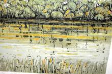 Clem Millward, 'Coastal Creek', lim/ed screenprint 46/95, hand signed, dated 1992, titled and numbered, 48/48cm
