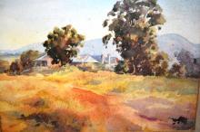 John R. Upton, 'A Grose Vale Homestead', watercolour, signed, 28 x 38cm