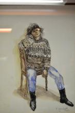 Robyn Gosbell, portrait of a seated woman, pastel, signed and dated 1989, 32.5 x 24.5cm