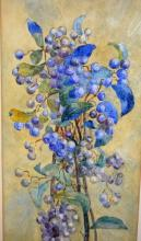 A. M. Cusack, still life flowers, watercolour, signed, 38 x 18cm
