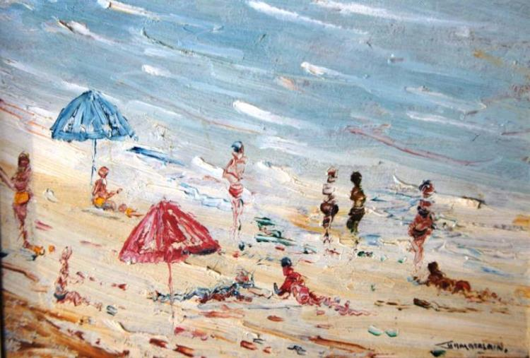 Barry Chamberlain (1928- ), 'The Beach',