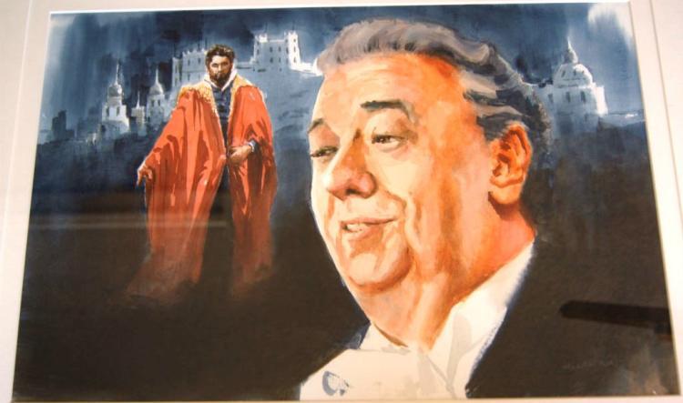 Allan Waite (1924-2010), 'The Tenor Domingo',