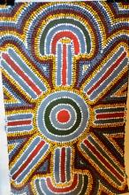2 aboriginal artworks: Patsy Tilmouth & Henry Dixon, each acrylic dot painting on canvas, unframed, each signed verso, each approx. 26 x 41cm