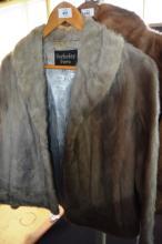 Berkely fur jacket, silver/grey, satin lined