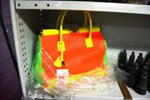 As new handbag, made in Italy by Giada Pelle bright fluorescent happy colours, RRP: $359