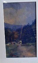 Joe Penn, oil on board, 'Misty landscape with