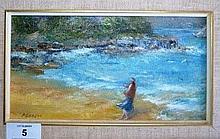 Shirley Perrett, pair of oil paintings each on