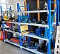 Two bays of heavy duty industrial shelving blue