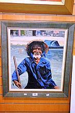 Bill Brambley, oil on canvas board, 'Smiley' as
