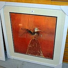 Brett Whiteley, offset lithograph 'The lyre bird'