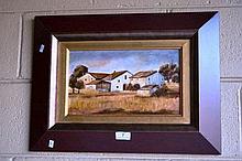 Jose Pedrol, oil on board, Spanish farmhouse,