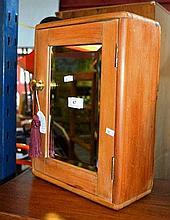 Vintage kauri pine bathroom medicine cabinet