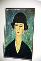 Well framed Modigliani print, portrait of a woman.