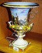 Antique French porcelain urn campana style with