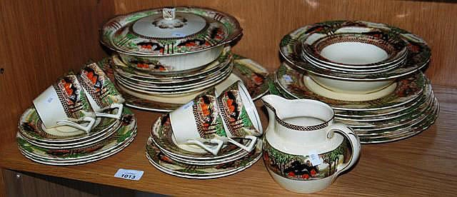 A collection of Myott dinnerware 'England's