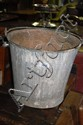 Vintage galenised NSWGR bucket with swing handle
