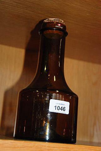 IItalia Finnish brown glass decanter, original