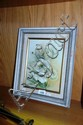 Framed hand-painted porcelain plaque, unsigned but