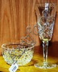A Waterford crystal champagne flute & a Waterford
