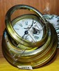 An Ansonia marine style wall clock, brass cased,