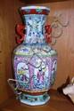 Large Chinese glazed vase, twin dragon handles,