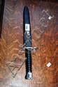Modern Swiss bayonet, double sided steel blade,