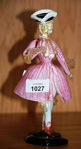 Vintage Murano art glass model of a woman wearing