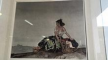 Sir William Russell Flint, (UK, 1880 - 1966), 'Carmelita', high quality hand signed print, 25.5 x 30.5cm