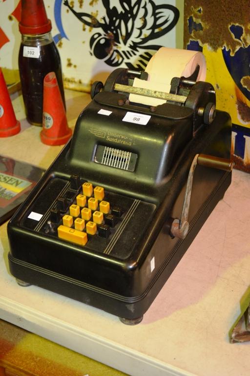 sundstrand adding machine