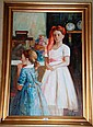 A Claude oil on canvas 'After Renoir' signed 90 x