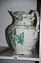 English made Johnson Bros green & white wash jug,
