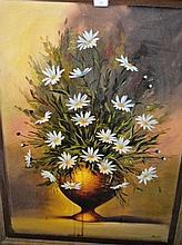 Artist unknown, oil on canvas, still life of