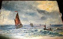 Artist unknown, unsigned antique oil on wooden