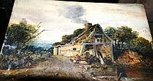J.B. Allen, oil on panel, 'Cottage - sketch from