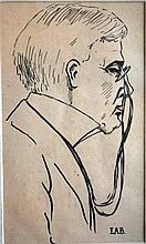 Artist unknown, ink sketch caricature, 'Tom