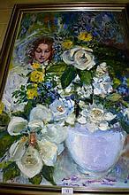 Pat (Patricia) Asquith, oil on board, portrait, a