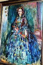Pat (Patricia) Asquith, oil on board, portrait,