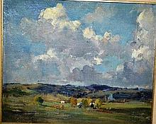George Garden Colville, oil on canvas board, rural