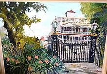 Neville Weston, oil on canvas, 'Botanic Gardens: