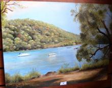 Josephine Anne Smith, 'Sunny Day - Berowra Waters' oil on canvas, signed, 46 x 61cm