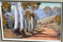 Werner Filipich, 'Road to Kempsey', oil On board, signed, 11 x 16cm