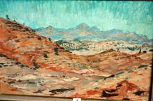 Charles Bush, 'Flinders Ranges, S.A.', oil on board, signed & dated 1952, 46 x 71cm