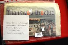 Peter Brock hand signed commemorative newspaper, dating from 1997