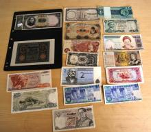 Collection of assorted world banknotes incl. China, England, Australia, various assorted world examples, modern & early, incl. ant uncirculated early German note