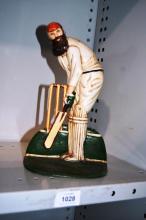 Hand painted cast metal WG Grace cricket figurine