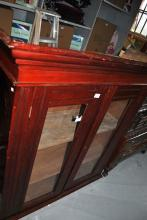 Edwardian pine 2 door cabinet, comes with key