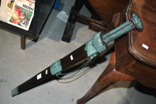 Replica timber & metal Chinese sword in Sheath