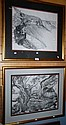 Elizabeth McAlpine, 2 pencil drawings, 'Kings