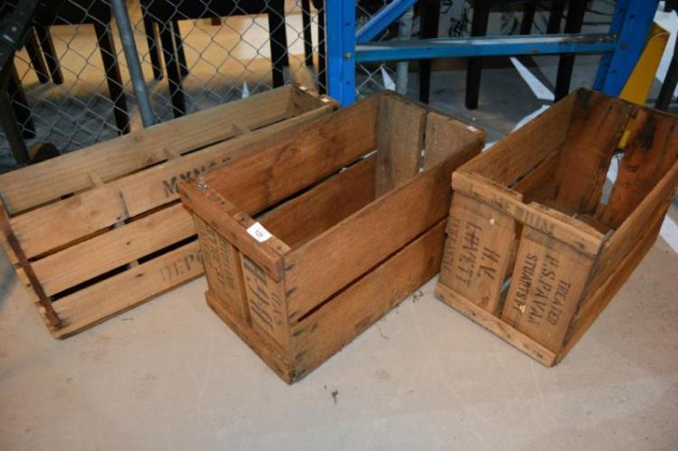 3 vintage crates Home bargains furniture uk